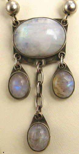 Labradorite Cabuchon & Bead Necklace Arts & Crafts