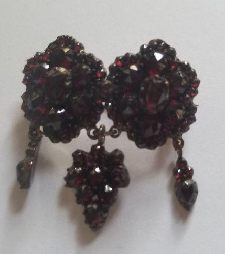 Victorian Garnet Pin