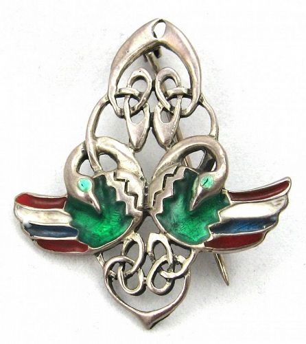 Celtic Interlace Bird Pin or Brooch