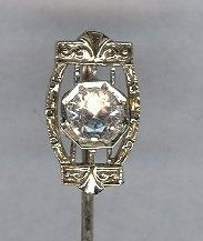 14kt White Gold Edwardian Stickpin