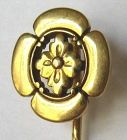 20kt Gold Japanisme Family Crest Stick Pin