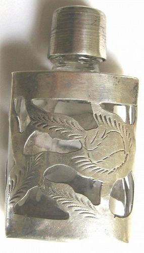 TAXCO Crystal & Sterling Perfume Bottle