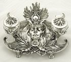 Egyptian Revival Silver Plate Inkwell by WMF