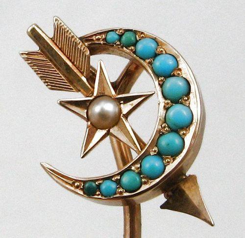 Moon Star Arrow – Stick Pin full of Symbolism
