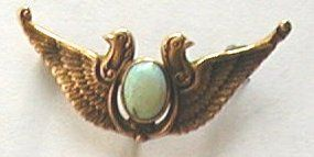 Egyptian Revival Watch Pin