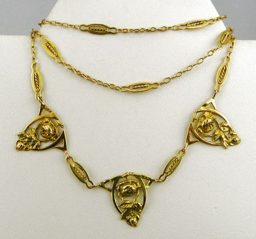 Roses in 18k Gold from France
