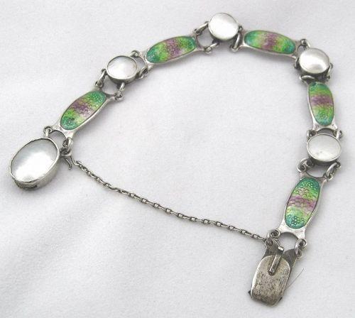 Pearl & Enamel Bracelet by SCHAVERIEN & EASTMEAD 1909