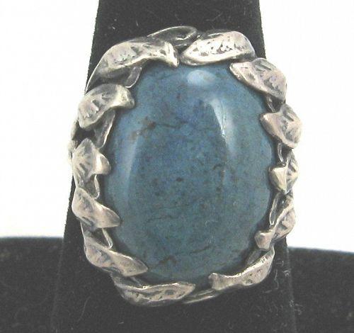 INSTONE (Attr.) Blue Swiss Lapis & Sterling Ring