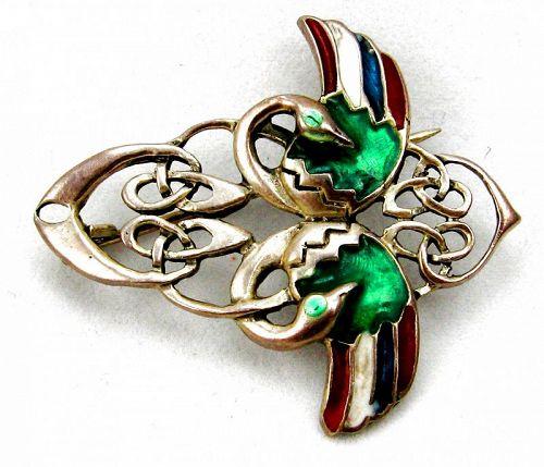 Celtic Entrelac Bird Pin or Brooch