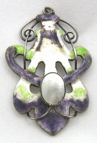 Suffragette Pendant – Enamel on Sterling Silver - Rare