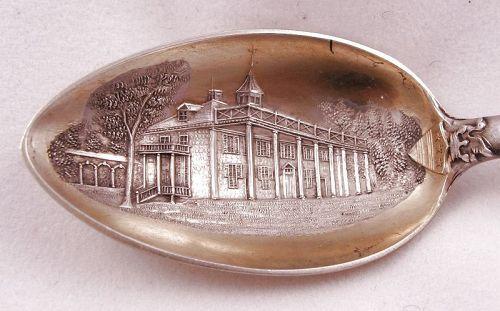 George Washington Masonic Spoon –Sterling and Gold