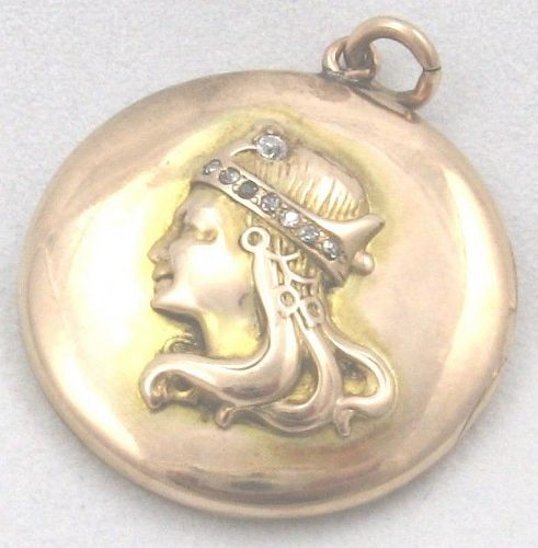 Byzantine Queen with Diamonds in Her Crown - Locket