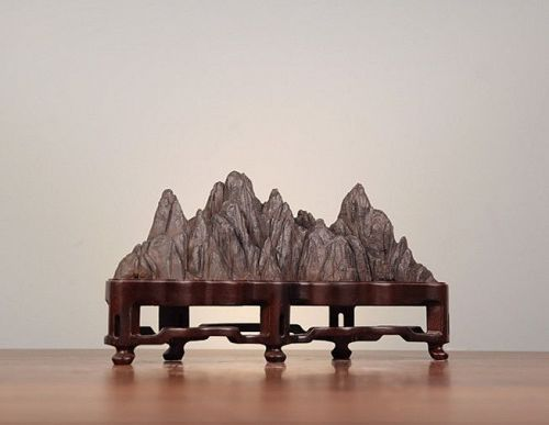 Antique Chinese Scholar Taihu Stone Stand