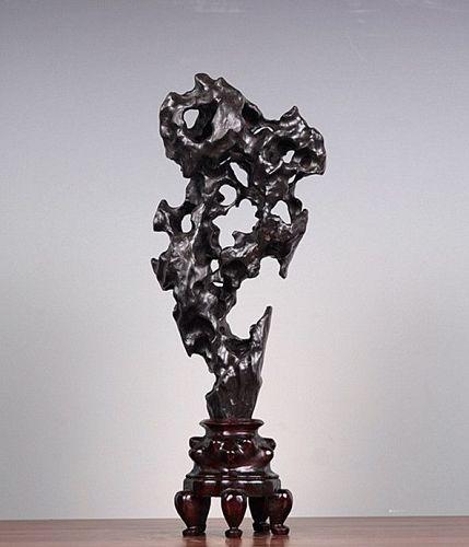 Antique Chinese Scholar Taihu Stone Stand