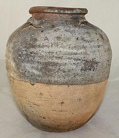 Large Chinese Yuan Dynasty Stoneware Ovoid Storage Jar