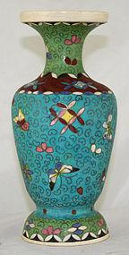 Japanese Totai Shippo Cloisonne Kinkozan Satsuma Vase