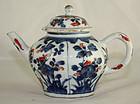 Chinese Kangxi Imari Export Porcelain Lidded Teapot