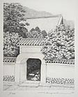 Japanese Ltd Ed. Etching Tanaka Ryohei Manpukuji Temple