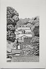 Japanese Ltd. Ed Etching Tanaka Ryohei Takafune Village