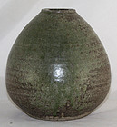 Japanese Mashiko Stoneware Vase with Potter�s Seal