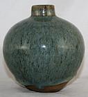 Chinese Qing Guangxu Shiwan Jun Junyao Glaze Stoneware Bud Vase