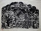Ltd. Ed. Japanese Woodblock Print Matsubara Naoko
