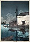 Japanese Shin Hanga Woodblock Print Hasui Ushibori