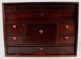 Large Chinese Qing Scholar's Hongmu Guanpixiang Box