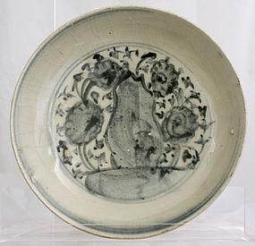 Chinese Ming Cobalt Blue Zhangzhou Swatow Dish Plate Saucer