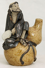 Chinese Republic Shiwan Shekwan Pottery Eight Daoist Immortal Figure