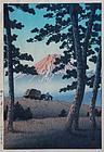 Japanese Shin Hanga Woodblock Print Hasui Kawase Dusk Taganoura Beach