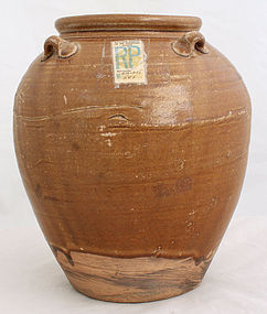 Chinese Song to Yuan Dynasty Amber Glazed Pottery Storage Jar