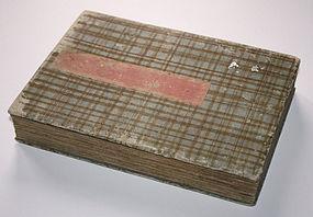 Rare 58-page Album Japanese Chirimen-e Woodblock Prints Kunichika