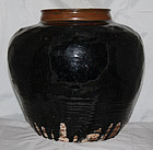 Massive Chinese Jin to Yuan Dynasty Henan Brown Black Glaze Jar