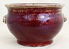 Chinese Qing Guangxu Porcelain Sang de Boeuf Oxblood Flambe Censer