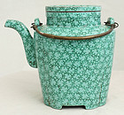 Chinese Qing Republic Enameled Yixing Zisha Pottery Teapot