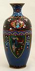 """7"""" High Japanese Meiji Taisho Cloisonne Enamel Vase"""