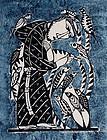 Japanese Ltd. Ed. Kappa-ban Stencil Print Sadao Watanabe St. Francis