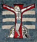 Japanese Ltd. Ed. Kappa-ban Stencil Print Sadao Watanabe Crucifixion