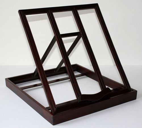 Chinese Qing Blackwood Hongmu Hardwood Folding Mirror Stand