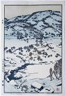 Pencil-signed Japanese Woodblock Print Toshi Yoshida Snow Country