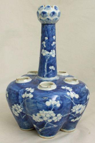 Chinese Qing Guangxu Hawthorn Crocus Vase Prunus Qianlong Mark