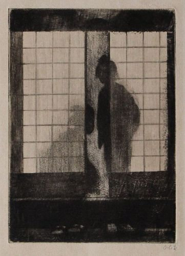 Emil Orlik Etching Print In the Evening Im Abend 1902 Japan