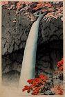 Rare 1st Ed. Japanese Woodblock Print Hasui Kawase Kegon Falls Nikko