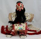 Chinese Vintage Glove Puppet for Street Theater Horsehair Beard