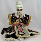 Chinese Vintage Glove Puppet for Street Theater Manchu Queue