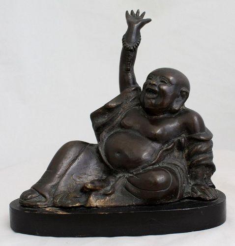 Japanese Meiji Period Bronze Hotei Budai Figure