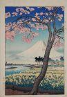 Japanese Shin Hanga Woodblock Print Koitsu River Banyu Springtime