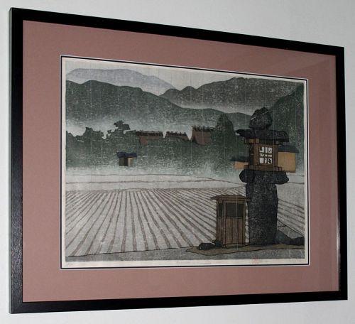 Large Ltd Ed Japanese Woodblock Print Joshua Rome Amawaku no Harusame