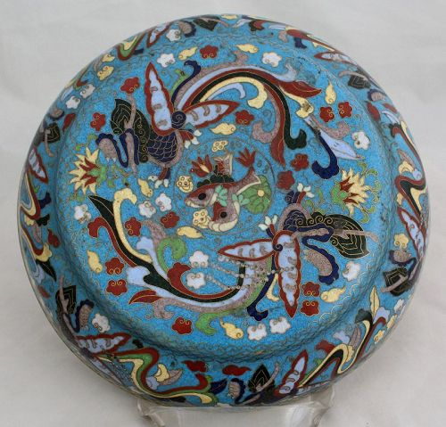Chinese Cloisonne Enamel Round Form Lidded Box